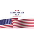 independence day greeting card banner template vector image vector image