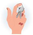 keys in a hand vector image vector image