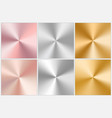 metal gradient collection vector image vector image