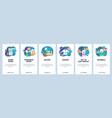 mobile app onboarding screens sport game online vector image
