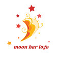 moon logo for bar cafe as sign vector image