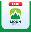 mountain logo template travel and adventure vector image
