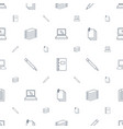 notebook icons pattern seamless white background vector image vector image