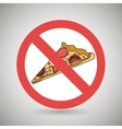 pizza fast food unhealth prohibited vector image