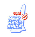 presidential vote in new hampshire usa 2020 vector image vector image