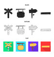 raw and forest icon set of vector image vector image