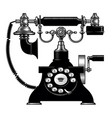 retro black phone vector image