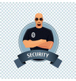 round icon on white background with security vector image vector image