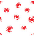 seamless marine pattern crabs vector image vector image