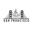 skyline of san francisco skyline design vector image vector image