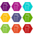 sprayer container icons set 9 vector image vector image