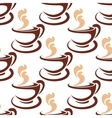 Steaming coffee cup seamless pattern vector image vector image