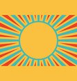 sun red yellow blue background pop art retro vector image vector image