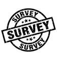 survey round grunge black stamp vector image vector image