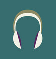 technology gadget in flat design headphones stereo vector image vector image