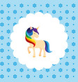 unicorn rainbow mane flat vector image