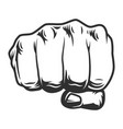 vintage human fist punch concept vector image