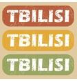 Vintage Tbilisi stamp set vector image vector image