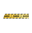 warning sticky tape vector image