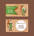 woodworking carpentry services composition set of vector image