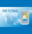 world travel and tourism concept banner of a vector image