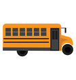 yellow school bus on white background vector image vector image