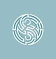 yin yanf maze vector image