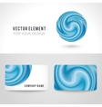 Business card template set abstract blue circle vector image