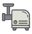meat grinder colorful line icon household vector image
