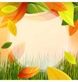 autumn background with leaf vector image