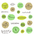 set og vegan signs vector image