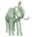 3d model elephant on white background vector image vector image