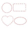 4 heart beads frames vector image