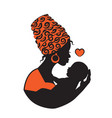 african woman with baby vector image vector image