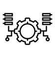 ai gear program icon outline style vector image vector image
