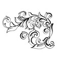 antique style acanthus vector image