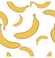 banana seamless background vector image vector image