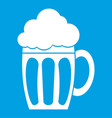 beer icon white vector image vector image