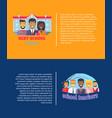best school teachrs poster set vector image vector image