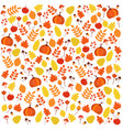 bright colorful autumnal pattern with leaves vector image vector image