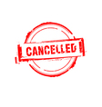 Cancelled rubber stamp on white vector image vector image