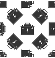 Car battery icon pattern vector image