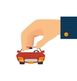 car hand vehicle vector image