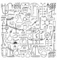 chemistry doodle set vector image vector image