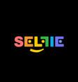 color logo soft corners selfi on a black vector image vector image