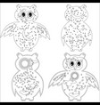 coloring page with symbol moon sun owl coloring vector image