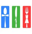 creative fork knife spoon set vector image