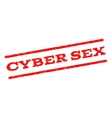 Cyber Sex Watermark Stamp vector image vector image