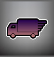 delivery sign violet vector image vector image