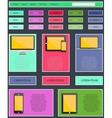 Digital mobile internet marketing Responsive Web vector image